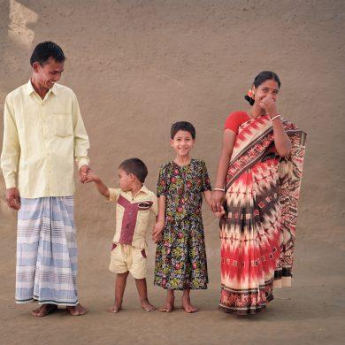 Dhala Babu, 32, farmer. Shafali Rani, 27. Prya, 8. Polak, 4.